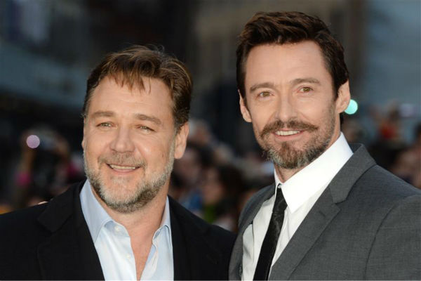 "<div class=""meta image-caption""><div class=""origin-logo origin-image ""><span></span></div><span class=""caption-text"">'Noah' star Russell Crowe and celebrity guest Hugh Jackman appear at the movie's premiere in London on March 31, 2014. The two starred in the 2012 musical film 'Les Miserables.' (Doug Peters / ABACA / startraksphoto.com)</span></div>"
