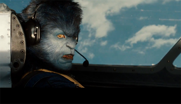 The mutant Beast appears in a scene from 'X-Men: First Class.' The role is played by Nicholas Hoult.