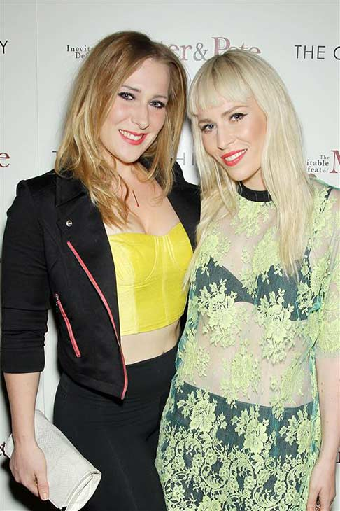 Singer Natasha Bedingfield &#40;singer of &#39;Pocketful of Sunshine,&#39; featured in &#39;Easy A,&#39; and &#39;Unwritten,&#39; the theme song of &#39;The Hills&#39;&#41; appears with sisterNikola at a screening of &#39;The Inevitable Defeat of Mister and Pete, hosted by the Cinema Society and Tommy Filfinger, in New York on Oct. 2, 2013. <span class=meta>(Marion Curtis &#47; Startraksphoto.com)</span>