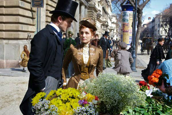 Robert Pattinson and Kristin Scott Thomas appear in a still from the 2012 movie 'Bel Ami.'