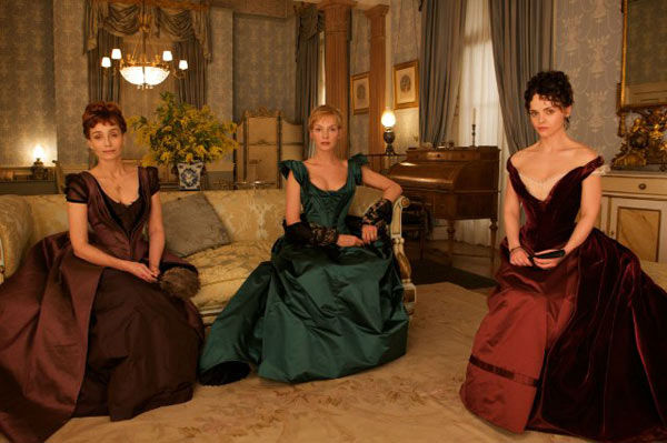 Kristin Scott Thomas, Uma Thurman and Christina Ricci appear in a still from the 2012 movie 'Bel Ami.'