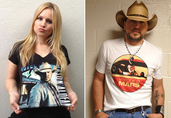 Kristen Bell and Jason Aldean appear in a publicity photo for the 2013 CMT Music Awards. - Provided courtesy of CMT