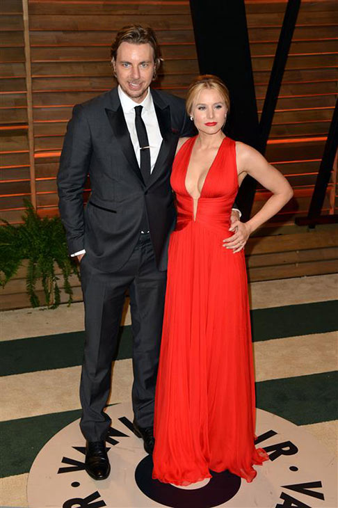 Kristen Bell and husband Dax Shepard appear at the 2014 Vanity Fair Oscar party in Los Angeles, California on March 2, 2014. <span class=meta>(Tony DiMaio&#47; Startraksphoto.com)</span>
