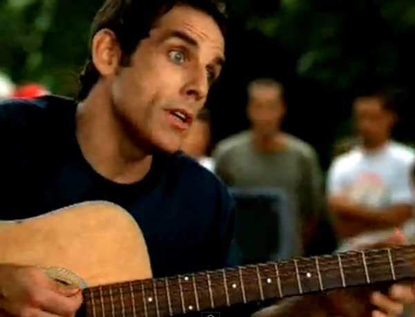 Ben Stiller appears in a scene from the 2003 music video 'Taylor.'