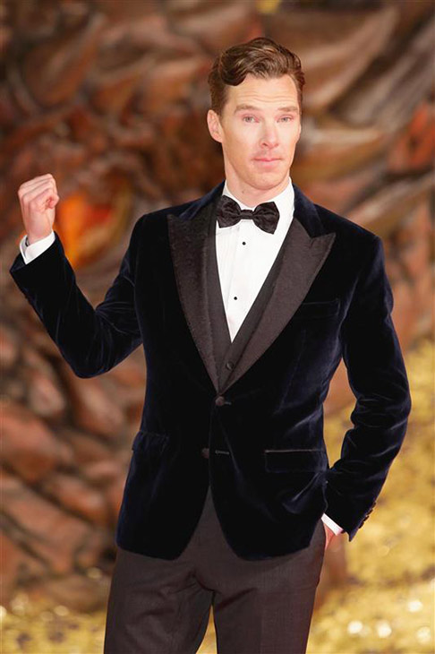 "<div class=""meta ""><span class=""caption-text "">Benedict Cumberbatch appears at the premiere of 'The Hobbit: The Desolation of Smaug' in Berlin, Germany on Dec. 9, 2013. He provides the voice of Smaug the dragon. (James Coldrey / Action Press / Startraksphoto.com)</span></div>"