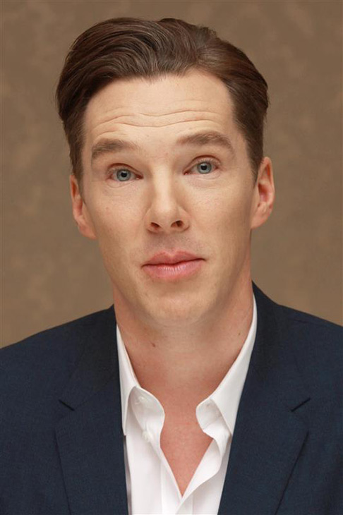 Benedict Cumberbatch appears at a press conference for &#39;The Hobbit: The Desolation of Smaug&#39; in Beverly Hills, California on Dec. 3, 2013. He provides the voice of Smaug the dragon. <span class=meta>(Munawar Hosain &#47; Startraksphoto.com)</span>