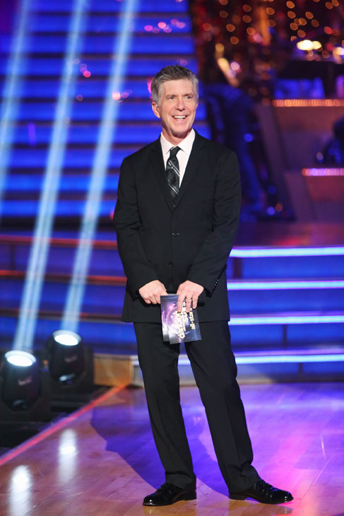 "<div class=""meta image-caption""><div class=""origin-logo origin-image ""><span></span></div><span class=""caption-text"">Emmy-winning co-host Tom Bergeron appears on the season premiere of 'Dancing With The Stars: All-Stars,' which aired on September 24, 2012.  (ABC / Adam Taylor)</span></div>"