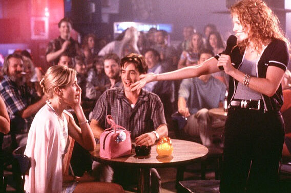 Cameron Diaz, Dermot Mulroney and Julia Roberts appear in a scene from the 1997 movie 'My Best Friend's Wedding.'