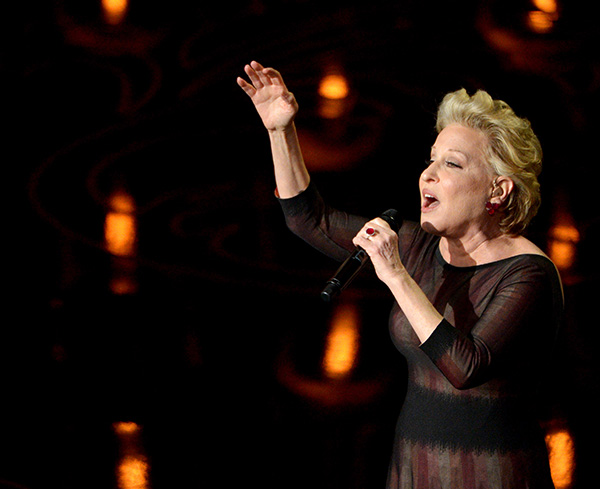 Bette Midler - the iconic singer sang her best-known song, the 1982 ballad &#39;Wind Beneath My Wings.&#39; <span class=meta>( John Shearer &#47; Invision &#47; AP)</span>