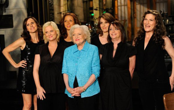 Pictured: Betty White appears in a photo for the TV show 'Saturday Night Live,' which premiered on May 8, 2010.