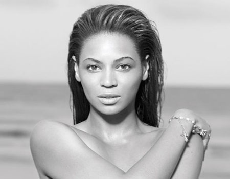 Beyonce in a promotional still from her personal website.