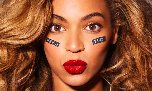 Beyonce appears with eye black in a photo posted on her website on Oct. 16, 2012. She is expected to perform at the 2013 Super Bowl. - Provided courtesy of beyonce.com