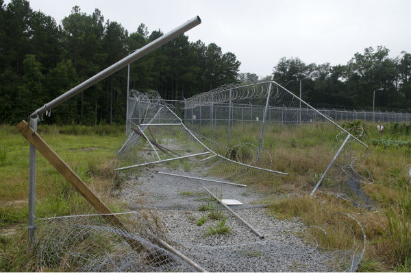 The prison is seen on the set of AMC&#39;s &#39;The Walking Dead&#39;s season 4 midseason finale, which aired on Dec. 1, 2013. <span class=meta>(Gene Page &#47; AMC)</span>