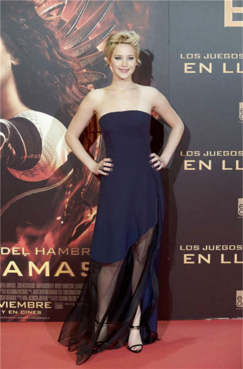 Jennifer Lawrence appears at the premiere of &#39;The Hunger Games: Catching Fire&#39; in Madrid, Spain on Nov. 13, 2013. <span class=meta>(ACTION PRESS &#47; Startraksphoto.com)</span>