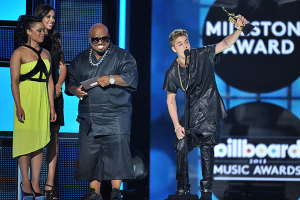 "<div class=""meta ""><span class=""caption-text "">Justin Bieber performed at the Billboard Music Awards at the MGM Grand Garden Arena on Sunday, May 19, 2013 in Las Vegas. He sang his new hit single, 'Take You,' and returned to the stage a second time later in the show to perform his new song, 'Power,' with will.i.am. But the most memorable moment for Bieber was when he accepted the Milestone Award. As he walked on stage, he was met with both cheers and boos. 'I'm 19 years old. I think I'm doing a pretty good job and basically, from my heart, I really just want to say it should really be about the music, it should be about the craft, the craft that I'm making. This is not a gimmick. I'm an artist and I should be taken seriously.' (ABC / Vince Bucci / Startraks)</span></div>"