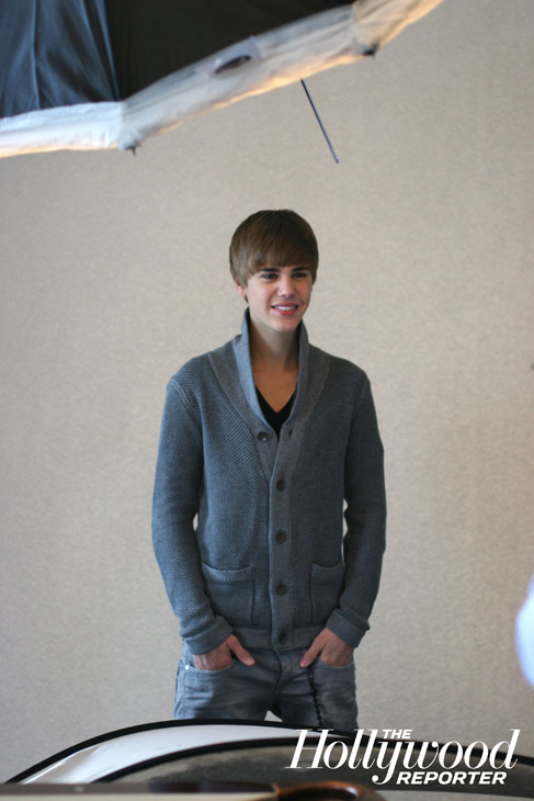 Justin Bieber debuts a shorter hairstyle in a behind-the-scenes photo published in The Hollywood Reporter in February 2011.  <span class=meta>(Jeff Lipsky &#47; The Hollywood Reporter)</span>