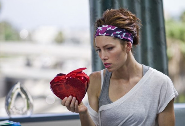 Jessica Biel appears in a still from her 2010 film 'Valentine's Day.'
