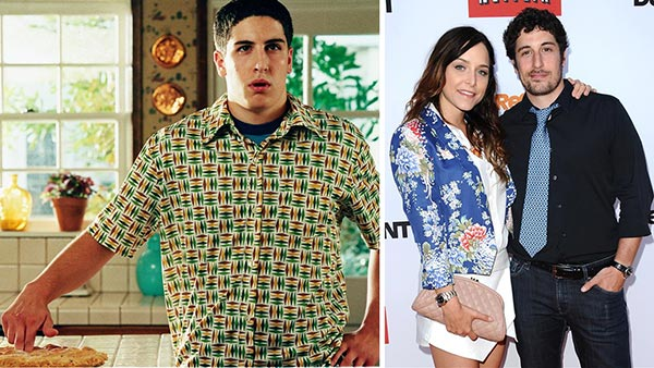 "<div class=""meta ""><span class=""caption-text "">Jason Biggs played main character Jim Levenstein in three major 'American Pie' films, including the last one - 'American Wedding' in 2003. After its release, he appeared in the Kevin Smith movie 'Jersey Girl' in 2004 and in 2008, the Dane Cook-Kate Hudson comedy 'My Best Friend's Girl,' which starred 'Angel' actress Jenny Mollen. Later that year, Biggs married her. They wecolmed their first child, a baby boy named Sid, on Feb. 15, 2014 and documented the experience in pictures and videos.  Biggs reprised his 'American Pie' role in 'American Reunion,' which was released in 2012. In 2013, he appeared on the Netflix women's prison dramedy series 'Orange Is The New Black.' He also provides the voice of Leonardo in the animated Nickelodeon series of 'Teenage Mutant Ninja Turtles,' a reboot of a 1990s cartoon.  (Pictured: Jason Biggs appears in a scene from 'American Pie' in 1999. / Jason Biggs appears with wife Jenny Mollen at the premiere of the Netflix show 'Arrested Development' in Los Angeles on April 29, 2013.) (Universal Pictures / Sara De Boer / Startraksphoto.com)</span></div>"