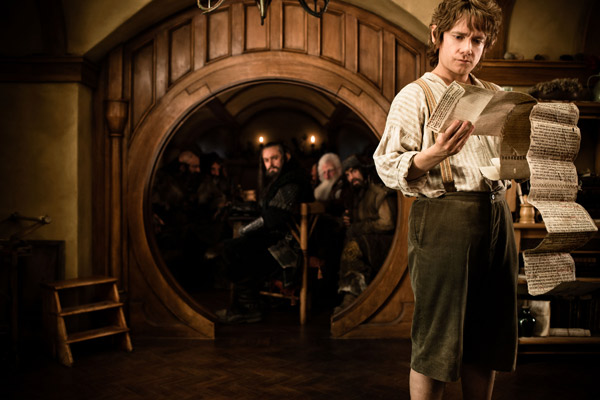 Martin Freeman appears as Bilbo Baggins in New...