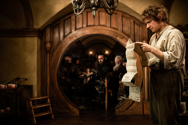 "<div class=""meta ""><span class=""caption-text "">Martin Freeman appears as Bilbo Baggins in New Line Cinema's and MGM's fantasy adventure 'the Hobbit: An Unexpected Journey,' a 2012 Warner Bros. Pictures release. It is the first of a three-part prequel to the hit 'Lord of the Rings' franchise. (James Fisher / Warner Bros. Pictures)</span></div>"