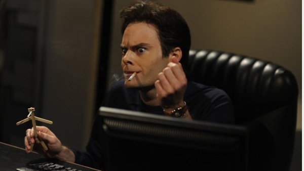 (Pictured: Bill Hader appears in a scene from 'Saturday Night Live.')