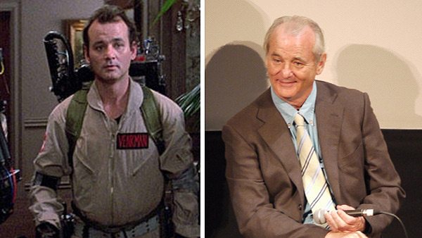 Bill Murray appears as Dr. Peter Venkman in the 1984 film 'Ghostbusters.' / Bill Murray appears at the 2010 South by Southwest festival in Austin, Texas in March 2010.