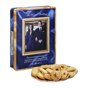 Prince William and Kate Middleton special biscuits going for $21.30 as of April 27, 2011.
