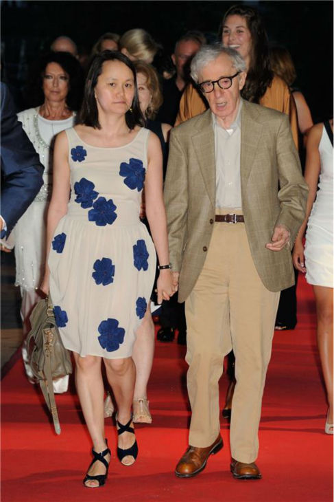 Woody Allen and wife Soon-Yi Previn attend the premiere of his film &#39;Blue Jasmine&#39; at the UGC Cine Cite Bercy in Paris on Aug. 27, 2013. <span class=meta>(Alban Wyters &#47; Abaca &#47; startraksphoto.com)</span>