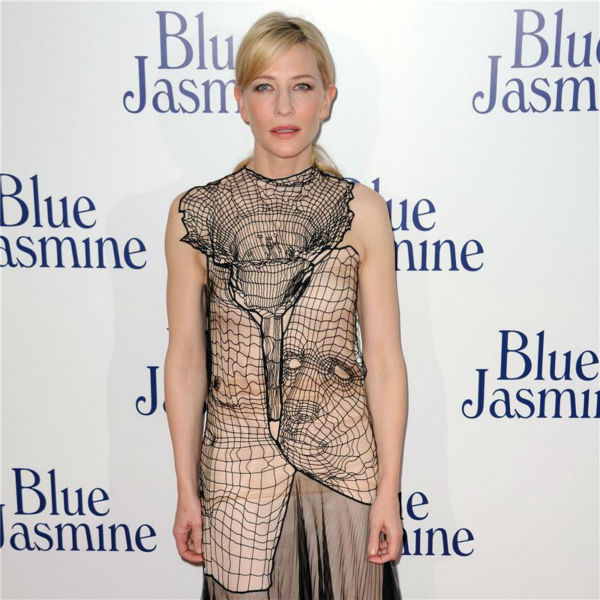 "<div class=""meta image-caption""><div class=""origin-logo origin-image ""><span></span></div><span class=""caption-text"">Cate Blanchette, wearing a  Christopher Kane Resort 2014 dress, attends the premiere of Woody Allen's film 'Blue Jasmine' at the UGC Cine Cite Bercy in Paris on Aug. 27, 2013. (Alban Wyters / Abaca / startraksphoto.com)</span></div>"