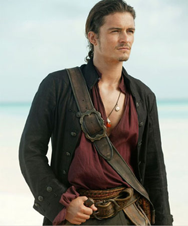 Orlando Bloom in a scene from the film, 'Pirates of the Caribbean: At World's End.'