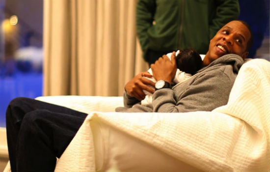 Jay-Z and his and wife Beyonce's daughter Blue...