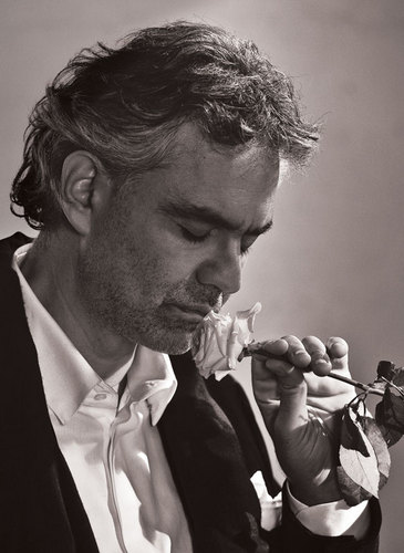 Promotional still of Andrea Bocelli from his personal Twitter account.