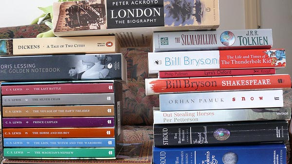 A photo of Books.