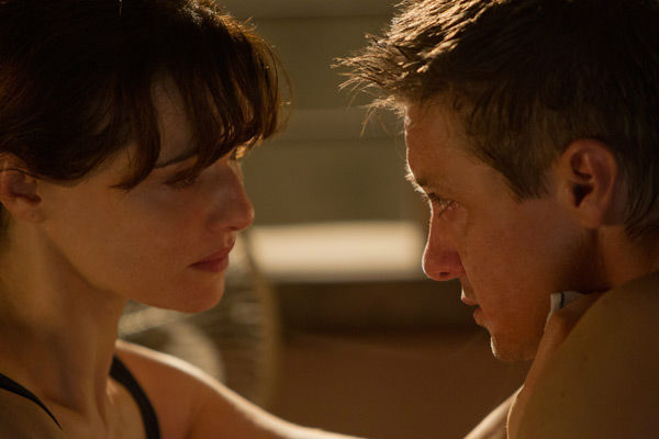 Jeremy Renner and Rachel Weisz appear in a photo...