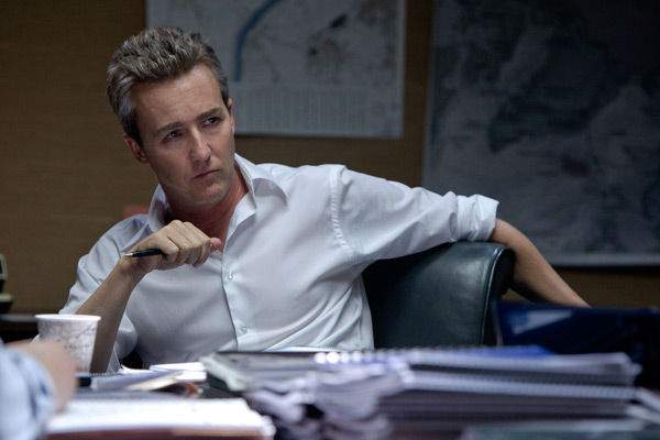 Edward Norton turns 43 on Aug 18, 2012. The actor is known for his work in films such as &#39;American History X,&#39; &#39;Fight Club,&#39; &#39;The Illusionist,&#39; &#39;Moonrise Kingdom&#39; and &#39;The Bourne Legacy.&#39;&#40;Pictured: Edward Norton appears in a photo from the 2012 action thriller &#39;The Bourne Legacy.&#39;&#41; <span class=meta>(Mary Cybulski)</span>