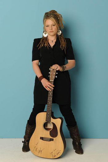 The cool, dreadlocked single mother that put so much heart and soul into her music, Crystal Bowersox, fell short from the crown in season nine as she ended as first runner-up to Lee DeWyze.  Despite losing, Bowersox was recognized for her raspy voice and raw talent. In December 2010, Bowersox debuted her first album, &#39;Framer&#39;s Daughter.&#39; Currently she is signed with 19 Entertainment and Jive Records.  Bowersox&#39;s album, &#39;Farmer&#39;s Daughter,&#39; has as of April 2011 sold at least 180,000 copies.  <span class=meta>(MySpace.com&#47;crystalbowersox)</span>