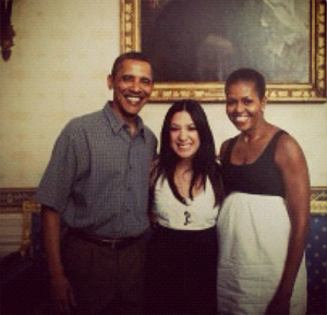 Singer Michelle Branch Tweeted this photo of herself with President Barack Obama and wife Michelle after he was re-elected on Nov. 6, 2012, saying: &#39;Remember that one time?&#39; <span class=meta>(instagram.com&#47;p&#47;Rt6pWzgyac&#47;)</span>