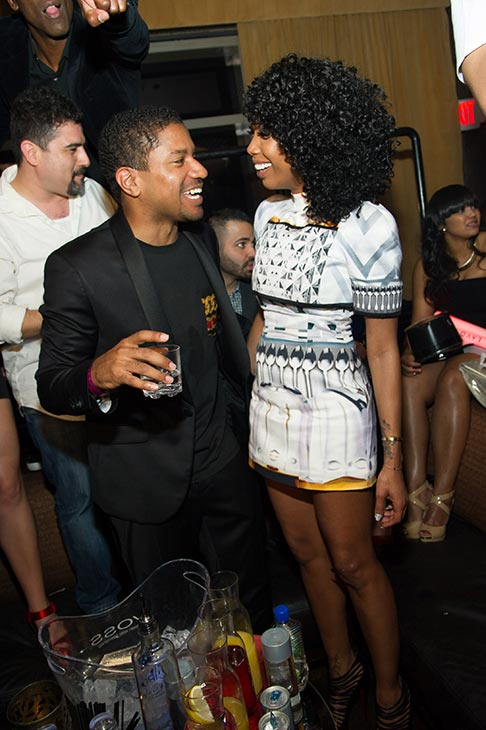 Brandy and fiance Ryan Press appear at a New Year&#39;s Eve party she hosted at the LAVO nightclub in Las Vegas on Dec. 31, 2012. <span class=meta>(Al Powers &#47; Powers Imagery)</span>