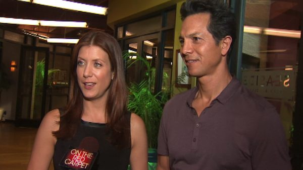 Benjamin Bratt appears alongside his 'Private Practice' co-star Kate Walsh in 2012.