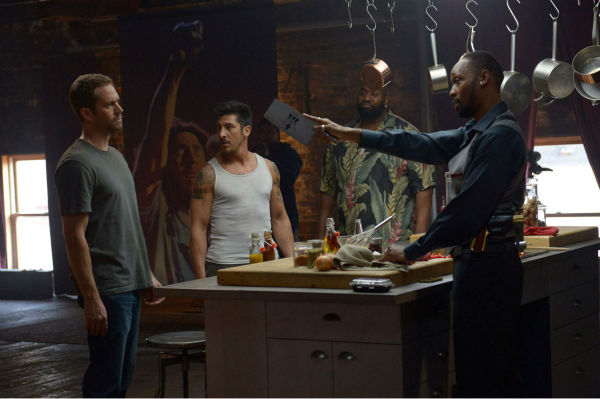 L-R: Paul Walker David Belle, Kwasi Songui and RZA appear in a scene from the 2014 action movie &#39;Brick Mansions.&#39; Walker plays an undercover cop. The film is set in Detroit in 2018. Brick Mansions is a government-quarantined housing project that is home to criminals. <span class=meta>(Philippe Bosse &#47; Relativity Media &#47; EuropaCorp &#47;Transfilm International Inc.)</span>