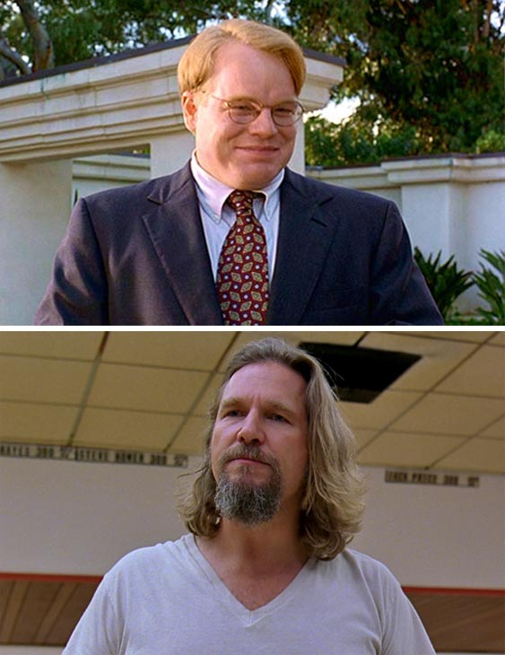 Jeff Bridges said this on his Facebook page in response to Philip Seymour Hoffman&#39;s death on Feb. 2, 2014: &#39;I&#39;m so shocked, and so sad hearing of Philip Seymour Hoffman&#39;s death. I enjoyed playing with him on &#39;The Big Lebowski.&#39; He was such a wonderful guy, and so damn talented, a real treasure. My thoughts and prayers are with his family.&#39;  &#40;Pictured: Philip Seymour Hoffman and Jeff Bridges appear in scenes from the 1998 cult Coen brothers&#39; film &#39;The Big Lebowski.&#39;&#41; <span class=meta>(Polygram Filmed Entertainment)</span>