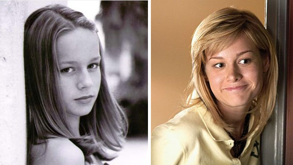 (Pictured: Brie Larson in a publicity photo from 2004 / Brie Larson in a scene from 'United States of Tara.')