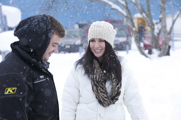 Bristol Palin and boyfriend Gino appear in a promotional photo for her new Lifetime reality show 'Bristol Palin: Life's a Tripp,' which premieres on June 19, 2012 at 10 p.m. ET.