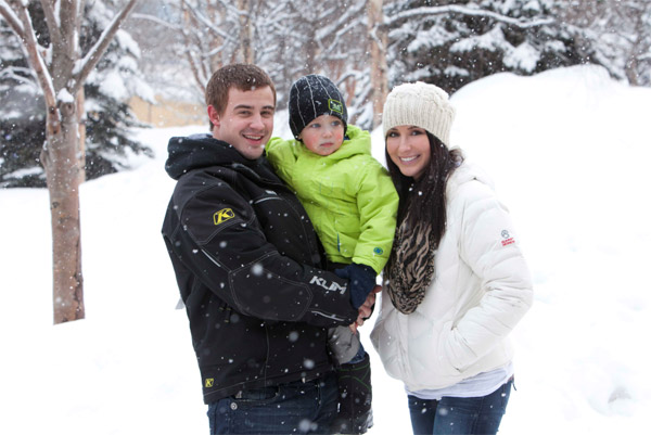 Bristol Palin and son Tripp appear in a...