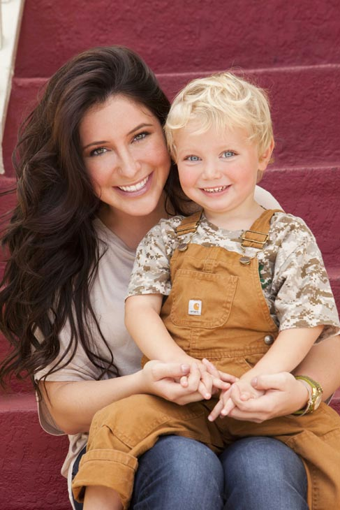 Bristol Palin and son Tripp appear in a promotional photo for her new Lifetime reality show 'Bristol Palin: Life's a Tripp,' which premieres on June 19, 2012 at 10 p.m. ET.
