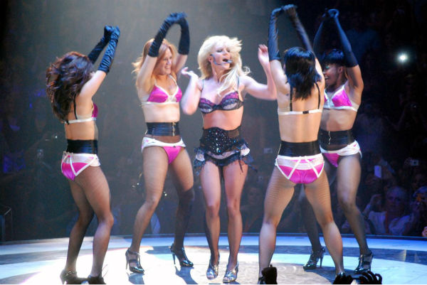 Britney Spears performs a concert in Dallas, Texas as part of her Circle tour on March 31, 2009.
