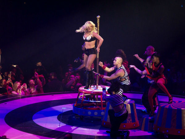 Britney Spears performs a concert at Prudential Center in Newwark, New Jersey as part of her Circus tour on March 14, 2009.