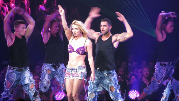 Britney Spears performs a concert in Toronto as part of her Femme Fatale tour on Aug. 14, 2011.