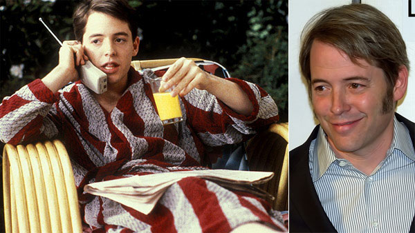 Matthew Broderick appears in a scene from the 1986 movie 'Ferris Bueller's Day Off.' / Matthew Broderick appears at the 2009 Tribeca Film Festival in October 2009.