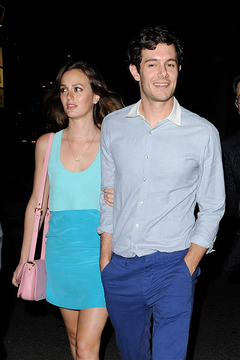 Leighton Meester of &#39;Gossip Girl&#39; and Adam Brody of &#39;The O.C.&#39; are engaged, People magazine reported on Nov. 20, 2013. The two have not commented.  &#40;Pictured: Leighton Meester and Adam Brody leave the &#39;Some Girls&#39; after party in Studio City, California on June 26, 2013.&#41; <span class=meta>(Daniel Robertson &#47; Startraksphoto.com)</span>